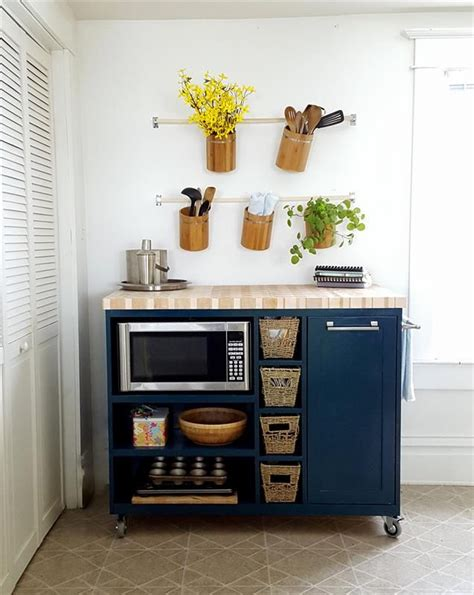 Diy Kitchen Island Cart best 25 microwave cart ideas on pinterest coffee bar