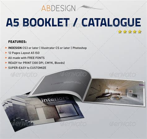 a5 booklet template 40 high quality brochure design templates web graphic