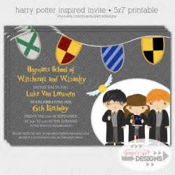 harry potter birthday invitation wizard by sugartotdesigns