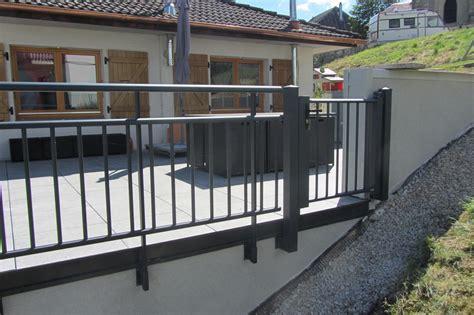 aluminium terrasse garde corps terrasse et garde corps aluminium
