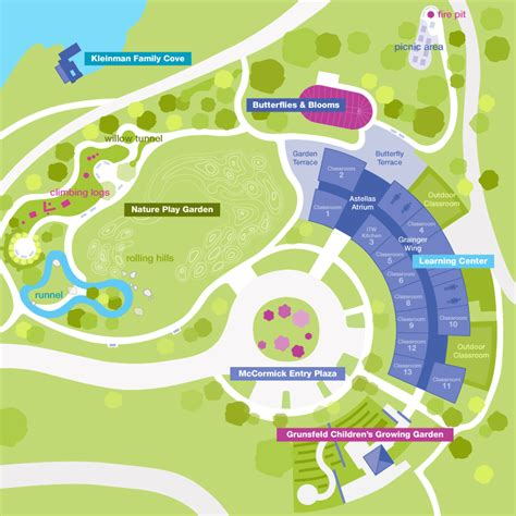 chicago botanic garden map family drop in activities chicago botanic garden