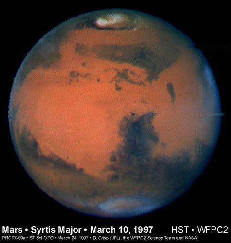 The Venus And Mars Of The Flu by Apod March 24 1997 The Weather On Mars