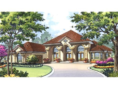 House Floor Plans Ranch Cape Romano Spanish Style Home Plan 047d 0197 House