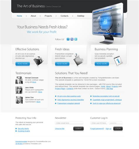 html5 business template free html5 business template html5 mania