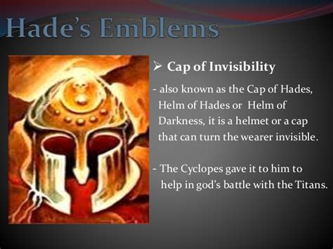 Hades Helmet Of Invisibility