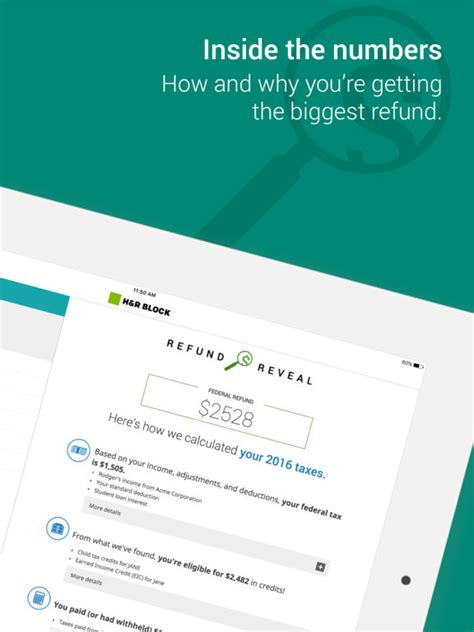 H&R Block Tax Prep and File 2016 returns on the App Store H And R Block 2016 Calculator