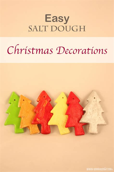 easy salt dough christmas decorations