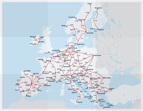 rail map of europe official eurail map of routes in europe eurail