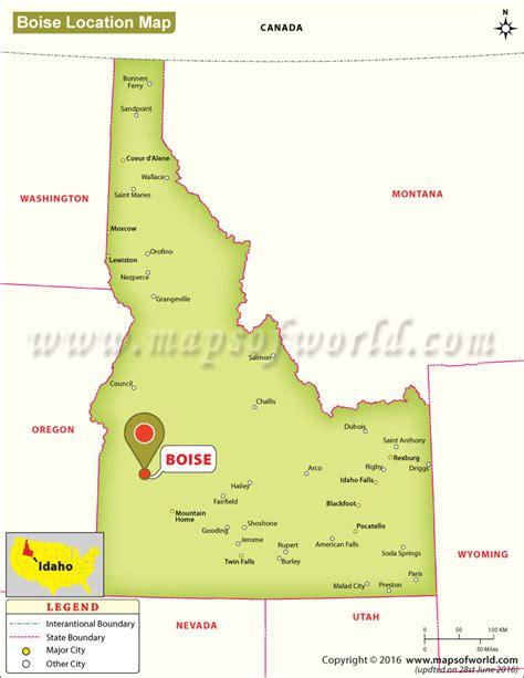 idaho map usa where is boise located in idaho usa