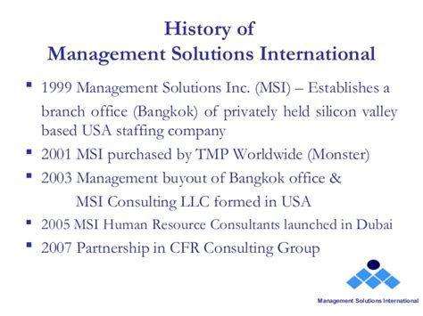 management systems international msi worldwide an overview of msi dubai