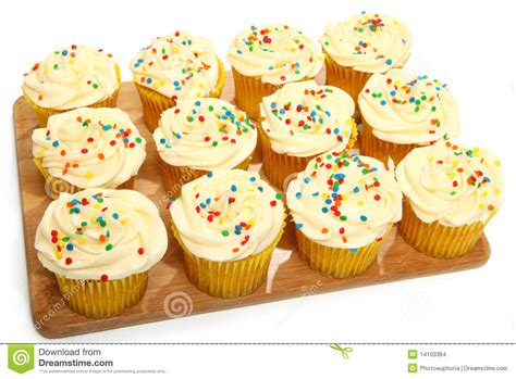 tray of cupcakes in kitchen stock images image 14103384