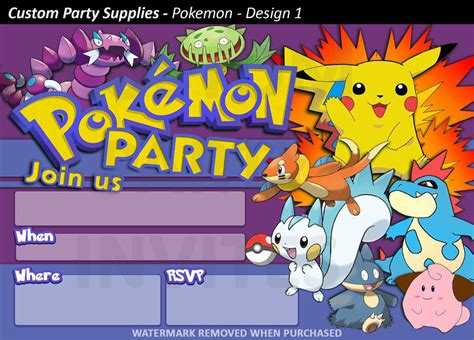 birthday rsvp card template pikachu birthday invitations 8 pack australia ebay