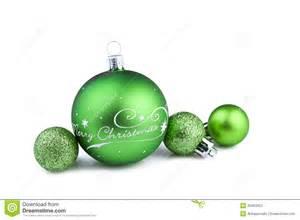 Christmas green balls stock photos image 35463363
