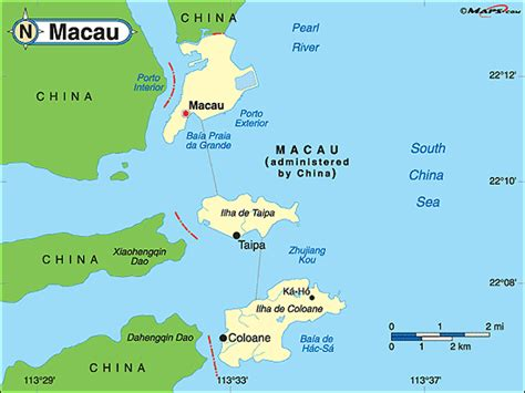 macao on world map macau political map by maps from maps world s