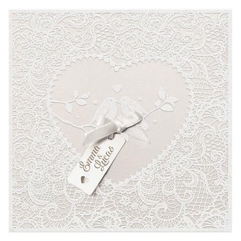 Hochzeitseinladung Creme by Hochzeitseinladung Quot Allison Quot In Creme Mit Schleife Und