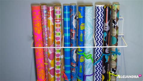 gift wrap wall organizer most organized home in america part 2 by