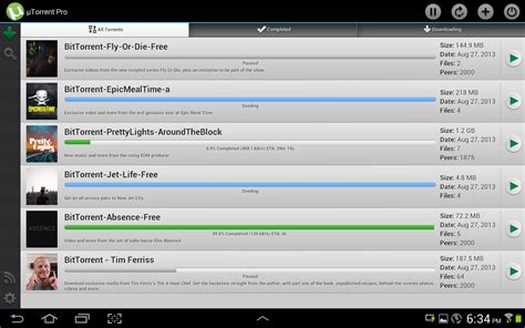 utorrent pro for android best new android iphone and windows phone apps for october 2013