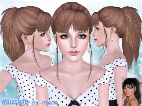sims 3 hair cc hair 217 by skysims sims 3 downloads cc caboodle