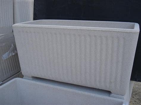 vasi cemento vaso fioriera rettangolare in cemento torino 80x38 h41cm