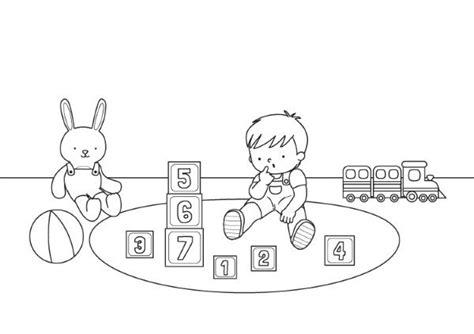 imagenes de niños jugando videojuegos para colorear beb 233 jugando dibujo para colorear e imprimir