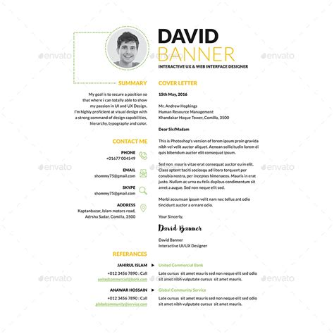 Sle Ece Resume by Sleek Resume Cv By Samiul75 Graphicriver