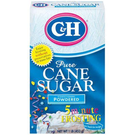c h pure cane powdered confectioners sugar 1 lb walmart com