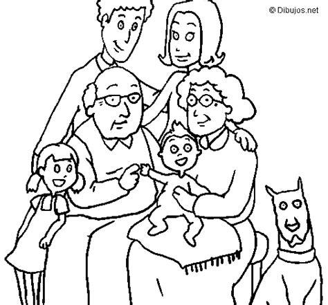 imagenes de la familia urbana para colorear dibujo de familia para colorear dibujos net