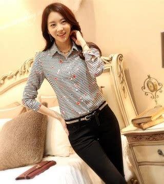 C02193 Legging Import Korea Motif Abstrak kemeja wanita motif houndstooth lucu model terbaru jual murah import kerja