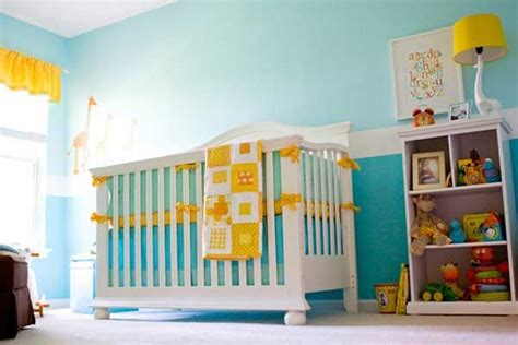 gorgeous teal and yellow nursery baby room ideas