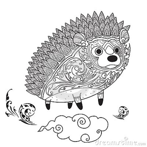 hedgehog coloring book for adults animal adults coloring book books hedgehog for coloring stock vector image 72255186