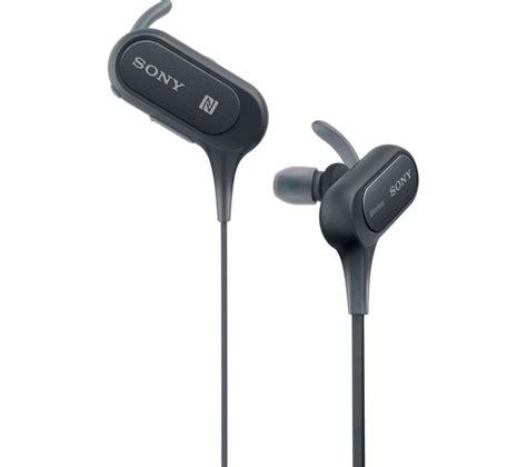 buy sony mdr xbbs wireless bluetooth headphones black  delivery currys