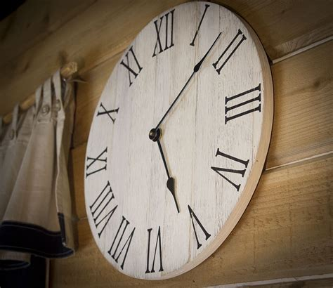 farmhouse wall clock rustic wall clock wall clock large - Rustic Clock