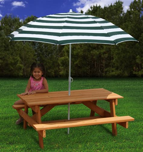 Children S Picnic Table With Umbrella by Gorilla Playsets Children S Picnic Table With Umbrella