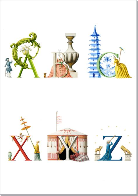 an architectural alphabet architectural watercolors