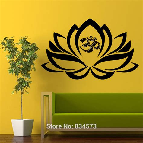 Wall Sticker Wall Stiker Stiker Dinding Pagar Bunga Pohon Sk9008 The Gallery For Gt Om Symbol Lotus