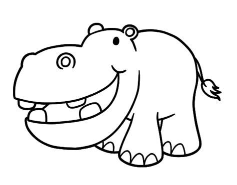 imagenes para colorear hipopotamo dibujo de hipop 243 tamo peque 241 o para colorear dibujos net