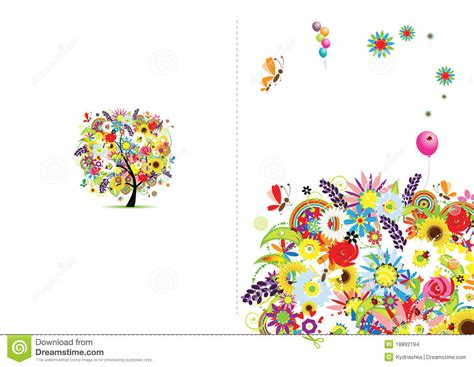 Gift Card Frame - cover of gift card floral frame stock images image 18892194
