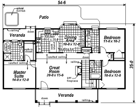 rectangular ranch house plans house plan 98889 at familyhomeplans com