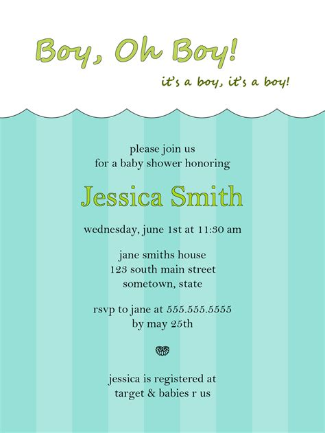 free baby boy shower invitations templates loving designs free graphic designs and printables
