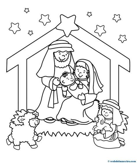 ba 218 l de navidad pesebre infantil para colorear y recortar mejores 347 im 225 genes de navidad belenes en pinterest
