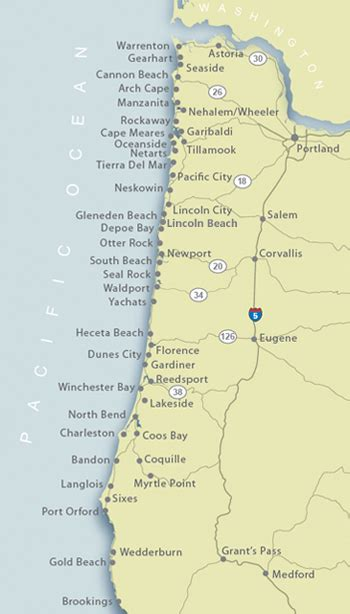 oregon coastal cities map oregon coast map of our vacation rental locations