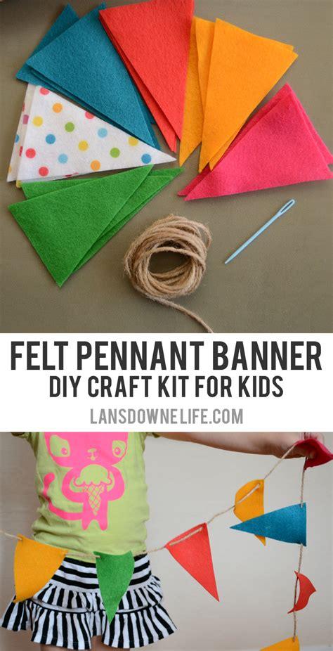 diy craft kits for diy craft kits for felt pennant banner lansdowne