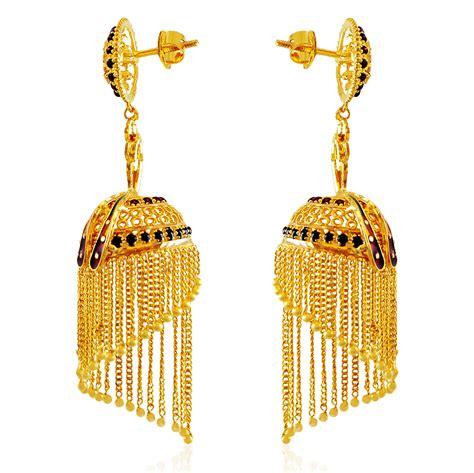 22k gold earrings designs 22k gold earrings gt 22k gold peacock jhumki 2018 year