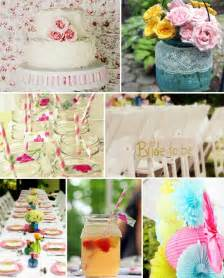 shabby chic vintage floral bridal shower ideas