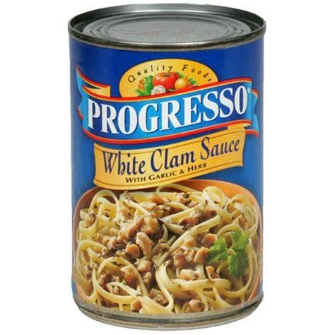 progresso white clam sauce with garlic herb
