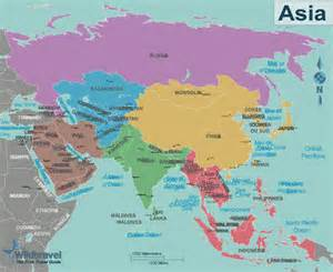 map of asian countries map of asia only countries my