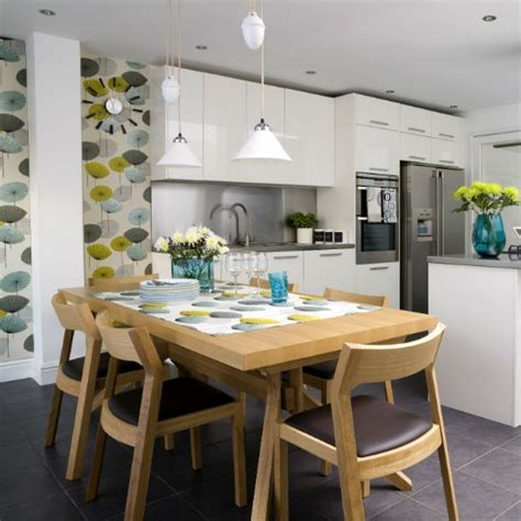 Contemporary Kitchen Wallpaper Ideas Kitchen Feature Wall Kitchen Design Ideas Housetohome Co Uk