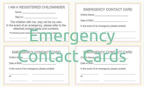 Emergency Contact Card Template Uk by Pin Emergency Contact Card Template On