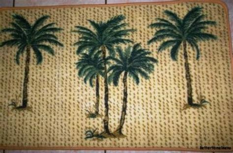 palm tree bathroom rugs 3pc tropical palm tree bathroom rug set bath mat u shaped
