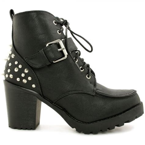 buy journey heeled studded spike buckle ankle boots